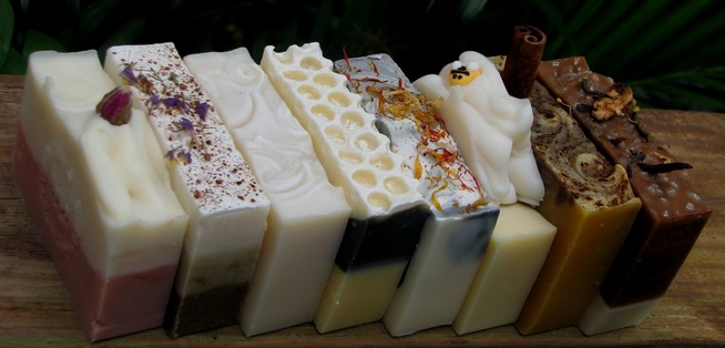 handcrafted natural and organic soap with essential oils